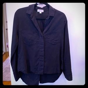 Black, long sleeved cloth & stone top.